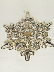 Vintage Gorham 1984 Sterling Silver Christmas Snowflake Ornament W/gold Filled