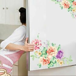 Peony Flowers Wall Stickers Art Home Decor Wallpaper Removable Vinyl Wall Decals