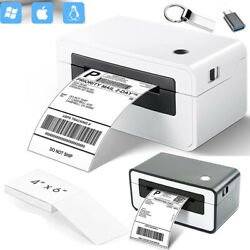 4x 6 Direct Thermal Shipping Label Printer Barcode Sticker For Ups Fedex Usps