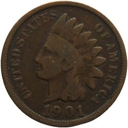 1901 One Cent United States Indian Head Coin Mo1967-
