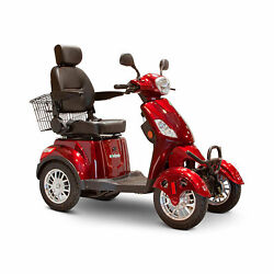 Ewheels Ew-46 4 Wheel 3 Speed Electric Battery Medical Mobility Scooter Red