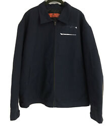 Red Kap Workwear Jt22nv2 Insulated Quilted Bomber Work Jacket Navy Blue Mens Xl