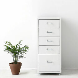 Ikayaa Metal Drawer File Cabinet Detachable Mobile 5/8 Drawers And 4 Casters F8y6