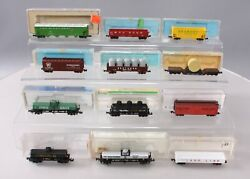 Atlas Minitrix And Other N Scale Assorted Freight Cars [12] Ex/box