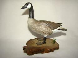1981 Lemaster Hand Carved Painted Miniature Wood Canadian Goose Decoy