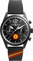 New Bell And Ross Br-126-insigna-es Chronograph Black Steel Men's Watch On Sale