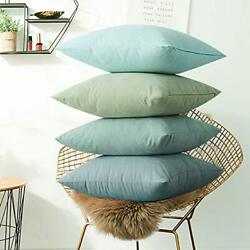 WEMEON Large Blue Decorative Pillow Covers 18x18in Set of 4 Modern Couch Pill...