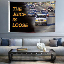 3x5 FT Banner amp; Flags The Juice is Loose OJ Simpson Ford Bronco College Dorm US