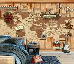 3d Voyage Route Map Zhua11521 Wallpaper Wall Murals Removable Self-adhesive Amy