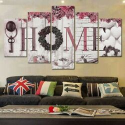 5PCS Concise Fashion Wall Paintings Home Letter Printed Photo Art Modern Decor