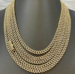Menand039s Custom Make 8 Mm Thick Miami Cuban Link Chain Necklace And Free Stud Gift