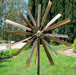 Stanwood Wind Sculpture Kinetic Copper Dual Spinner - Double Windmill Spinner