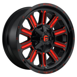 20 Inch Black Red Wheels Rims Lifted Ford F250 Truck Superduty D621 20x10 8x170