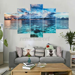 5pcs Unframed Modern Art Oil Painting Print Canvas Picture Home Room Wall Decor