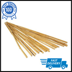 6' Natural Finish Bamboo Stake Tan Lightweight Use Indoor Or Outdoor Pack Of 25