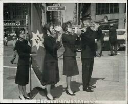 1966 Press Photo Salvation Army Band Plays On The Street In Seattle, Wa.