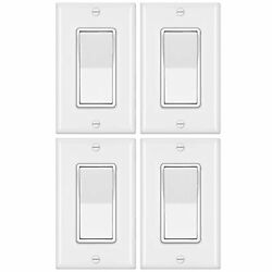 4 Pack Bestten 4-way Decorator Wall Light Switch With Wallplate 15a 120/277v ...