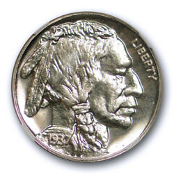 1937 5c Proof Buffalo Head Nickel Ngc Pf 66 Mostly White And Flashy Coin