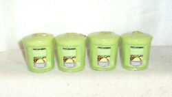 Yankee Candle PINEAPPLE CILANTRO Sampler Votive Candle Lot of 4