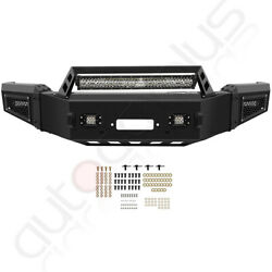 New - Complete Front Bumper Assembly W/ Led Lights For 2018-2020 Ford F 150