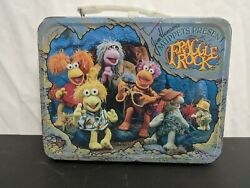 Rare 1984 Vintage Fraggle Rock Metal Lunch Box Jim Henson Muppets No Thermos 🔥