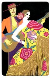 Deco Lady Swap Card Vintage Playing Card 1930s Gold