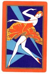 Us Narrow Vintage Swap Cards Playing Card Deco Lady 1920's Mint Cond 100yrs Old