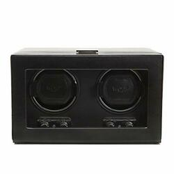 Wolf Heritage 270102 - Double Watch Winder For 2 Watches - Tempered Glass Cover