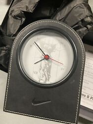 Rare Nike Employee Award Werms And Plath Black Leather Clock New Free Shipping