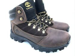 Rangeley Mid Hiking Brown Leather Boots 9810r A3746 Menand039s Sz 8