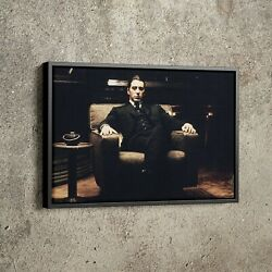 The Godfather Poster Michael Corleone Al Pacino Movie Hand Made Posters Print W