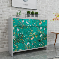 Retro Floral Wall Stickers Removable Room Wallpapers Self-adhesive Contact Paper