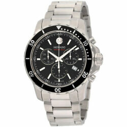 Movado Series 800 Menand039s Swiss Chronograph Steel Bracelet Watch 42mm - Silver