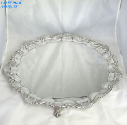 Garrard And Co Large Heavy Solid Sterling Silver Salver Tray 1832g 43cm Lon 1913