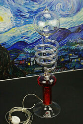 French Boiling Lamp Handblow Glass Vintage 70's Space Age Psychedelic Design