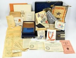 Huge Lot 275+ Wwii 716th Us Railroad And Soldier Rr Bn Letters Booklets Flag Ww2