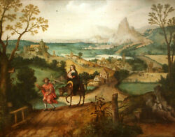 High Quality Oil Painting Handpainted On Canvas  Flight Into Egypt