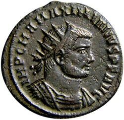 Ancient Roman Coin Certified Maximianus. First Reign Emperor And Jupiter W/coa