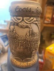 Coors Beer Stein - 2001 The Golden Spike - 2nd In Series Of Collector Steins