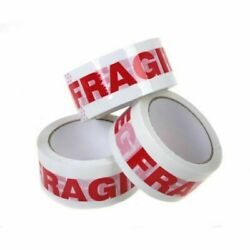 1-4-6-12-36-72 Rolls Fragile Handle With Care Carton Sealing Packing Tape 2x110