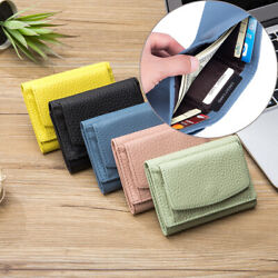 RFID Women#x27;s Mini Trifold Wallet with Coin Bag Blocking Small Wallet for Ladies $10.85