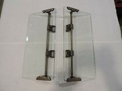 Original 1900and039s 1920and039s Wind Wings W/ Mounting Brackets Brass Era Big Car Pre-war
