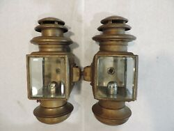 Vintage 1900and039s Brass Driving Lamp Original Pair - Cadillac Ford Buick Oldsmobile