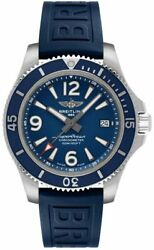 Brand New Breitling Superocean Automatic 42 Blue Dial Menand039s Watch A17366d81c1s1