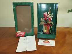 New Vintage 1997 Mr Christmas Santa Carousel Tree Top Topper Or Table Piece