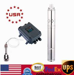 1000w Solar Water Pump Deep Well Submersible Pump Farm Stainless Steel 2.3m3/h