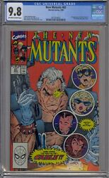 New Mutants 87 Cgc 9.8 1st Cable Mutant Liberation Front