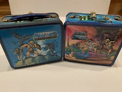 Vintage He-man Masters Of The Universe Pair Of Metal Lunch Boxes