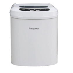 Magic Chef 27 Lb. Compact Countertop Ice Maker In White Portable With Ice Scoop