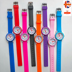 Childrens Kids Watches For Boys Girls Colour Cartoon Silicone Toy Wrist Watch Uk